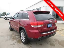 2018 deep cherry red crystal pearlcoat jeep grand cherokee limited suv automatic 4 door 3 6l