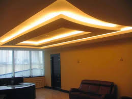 room false ceiling designs colorful pop  gypsum board false ceiling design for living room with hidden lights