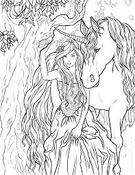 Coloring Pages Fairies And Unicorns Fairy And Unicorn Coloring Pages