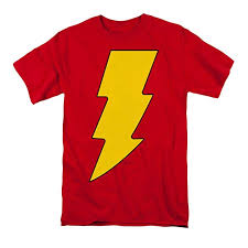 Dc Comics Mens Shazam Logo T Shirt Red