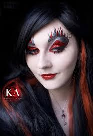 last minute devil makeup