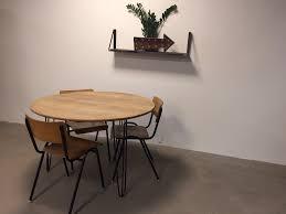 round industrial hairpin leg table ronde industriele hairpinleg tafel