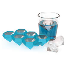 Decorative Ice Cube Trays Iced Out Flexible Silicone Plastic DiamondShaped Novelty Ice Cube 3