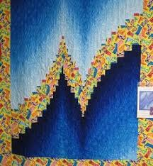 Two-Fabric Bargello Quilt Top &  Adamdwight.com