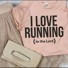 Ruby S Rubbish Size Chart I Love Running To The Lord T Shirt M Nwt