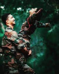 Army Lover Army Couple Hd Wallpaper
