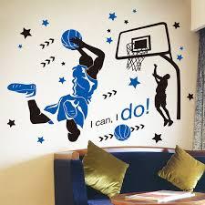 <b>SHIJUEHEZI Basketball Player</b> Dunk <b>Wall</b> Sticker Creative Sports ...