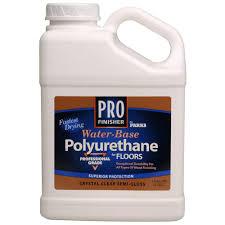 clear semi gloss water based interior polyurethane