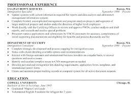 Usajobs Resume Template Resume Sample Resume Sample Federal