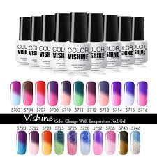 whole vishine nail polish color change temperature gel nail design diy full set available soak off uv gel polish gel nails nonyx nail gel uv nails from