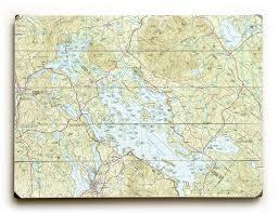 Nh Lake Winnipesaukee Nh Topo Map Sign