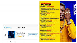 Itunes Dancehall Charts Wonders Shatta Wales Wonder Boy Album Peaks 1 On Itunes