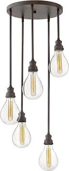 hinkley 3265in denton modern industrial iron multi pendant lighting hin 3265in
