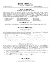 Resume Examples Personal Assistant Resume Templates Executive