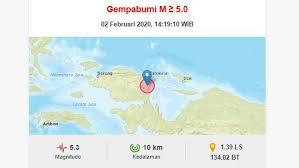 Gempa bumi hari ini 5.0 sr guncang gunung kidul yogya 20 januari 2021. Gempa Hari Ini Magnitudo 5 3 Guncang Manokwari Bmkg Tak Berpotensi Tsunami Bagian 1