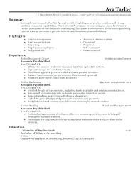 Sample Resume Accounting Clerk Payable Job Description Resumes Smart