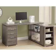 white corner desk. Unique Corner MONARCH  COMPUTER DESK DARK TAUPE LEFT OR RIGHT FACING CORNER Intended White Corner Desk