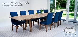 seating room furniture. Table Seating Guide, Bespoke Walnut Vision A Dining Room Furniture