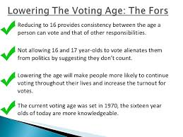 voting age should not be lowered essay no we shouldnt lower the voting age to 16 forbes