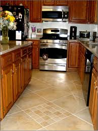 kitchen floor tile ideas with oven and stove