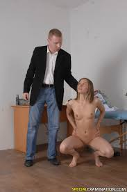 Kinky male doctor attacks a nude test girl