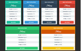 tables bootstrap responsive flat style