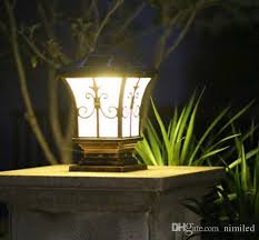 solar post lights outdoor post lighting landscaping solar led garden lamp post lamps warm white cold white color light sensor functions llfa from