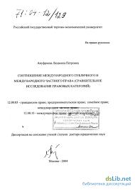 международного публичного и международного частного права  Соотношение международного публичного и международного частного права Сравнительное исследование правовых категорий