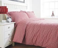 Red Gingham Bedding / Bed Linen - King Size Duvet Cover Set ... & Red Gingham Bedding / Bed Linen - King Size Duvet Cover Set / Quilt Cover  Set Adamdwight.com