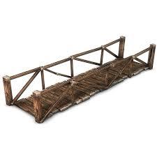 Wooden Bridge Game Amazing Wooden Plank Bridge 32D CGTrader