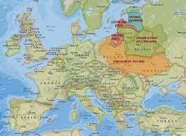 ليتوانيا تاريخ خريطة - خريطة ليتوانيا التاريخ (شمال أوروبا - أوروبا)