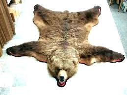 faux animal skin rugs fake with head bear rug s for nursery fur cost gr faux animal skin rugs