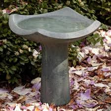 square painting concrete bird bath