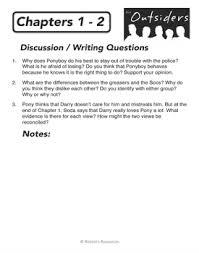 chapter summaries pre reading activities writing questions outsiders chapter summaries pre reading activities writing questions
