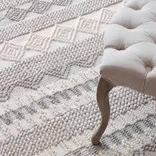 Designer Striped Carpet Kilim 100 Wool Handmade Carpet Geometric Indian Grey