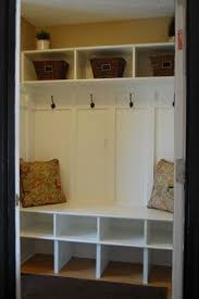 convert closet to mudroom - Google Search | For Heather | Entryway ...