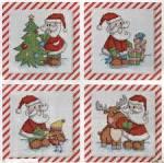 Схема вышивки новогодней открытки