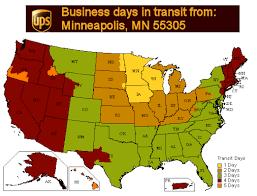 Ups Ground Chart Thekickplatestore Com Ups Ground Transit Times From