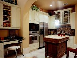 Kitchen:Small Shabby Chic Kitchen With Distressed Island And Travertine  Backsplash Small Shabby Chic Kitchen