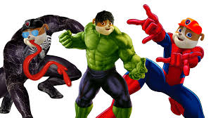 Small Picture Paw Patrol Venom Spider Man Hulk Coloring Pages for Kids