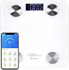 LIVINGbasics™ Multifunction Bluetooth <b>Body Fat Scale</b>, Smart BMI ...