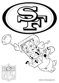 more san francisco 49ers coloring pages on maatjes coloring pages