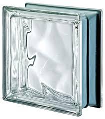 pegasus metalized wavy glass block neutro clear