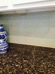 glass backsplash texture. Brilliant Backsplash Granite Countertop With Wave Textured Glass Tile Kitchen Backsplash In Snow  White For Glass Backsplash Texture