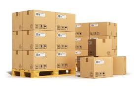 pallet with boxes. package and pallet shipping with boxes i