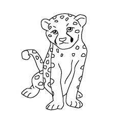 Small Picture Cute Baby Cheetah Coloring Page NetArt