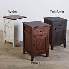 handmade rosewood nightstand with forged iron hardware india