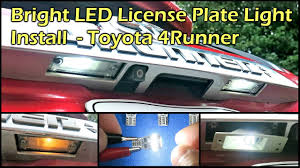 Installing Led License Plate Lights Very Bright Led License Plate Light Install For Toyota 4runner