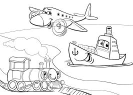 Kleurplaat Trein