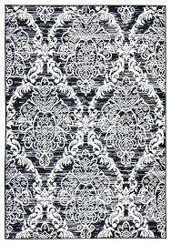 gray and white damask rug black area paradise stone whi
